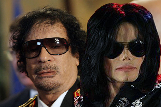 Muammar Qaddafi and Michael Jackson