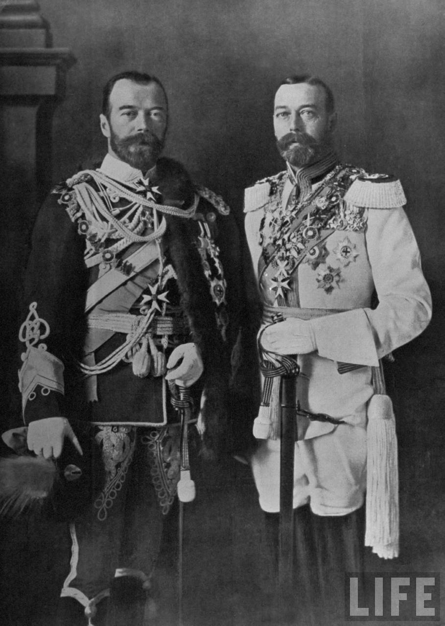zar Nicholas II of Russia and Britain's King George V