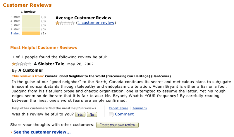 Good Neighbor to the World - Canada Book Review on Amazon